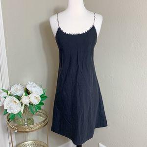 Burberry Black Nova Check Trim Tank Mini Dress
